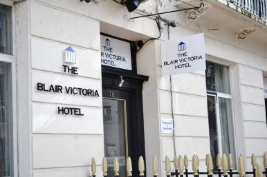 Entrance of Blair Victoria Hotel